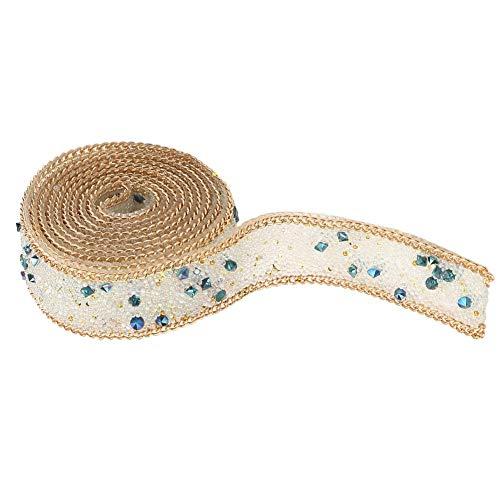 Diamant strass 1 mt strasshitze backing kleber band mesh wrap rolle diy dekor 2 cm breite(#2)