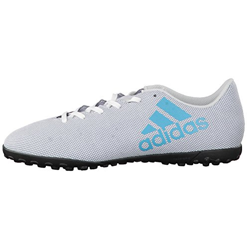 adidas Herren X 17.4 Tf Fußballschuhe Weiß (Footwear White/energy Blue/clear Grey)