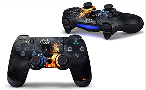 Skins für PS4 Controller - Aufkleber für Playstation 4 Spiele - Aufkleber für PS4 Slim Sony Play Station Four Controller Pro PS4 Zubehör PS4 Remote Wireless Dualshock 4 BF3