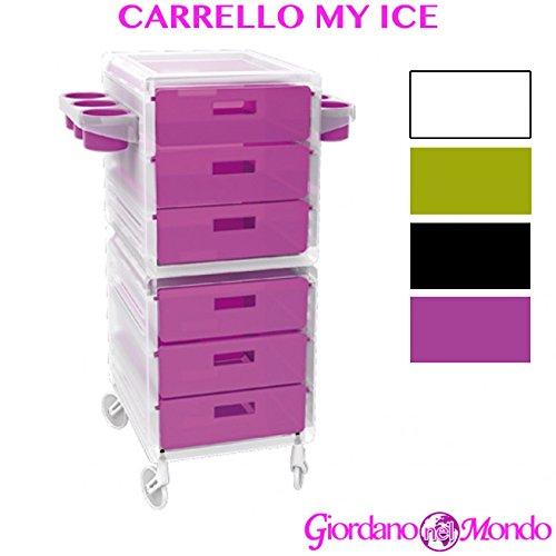 nd Barbier Aufbewahrungsbox Föhnhalter Schere Kamm Tinkturen Haar My Ice Grün-Transparent-Pink oder Schwarz Ceriotti Profi fuchsia ()