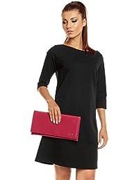 Envelope Clutch Lack oder Metallic ca. 34x17cm mit Innenfach in vielen Farben - schlichte Eleganz passend zu jedem Anlass