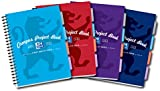 Oxford Campus A4 Size Project Book - Assorted Colour, Pack of 5