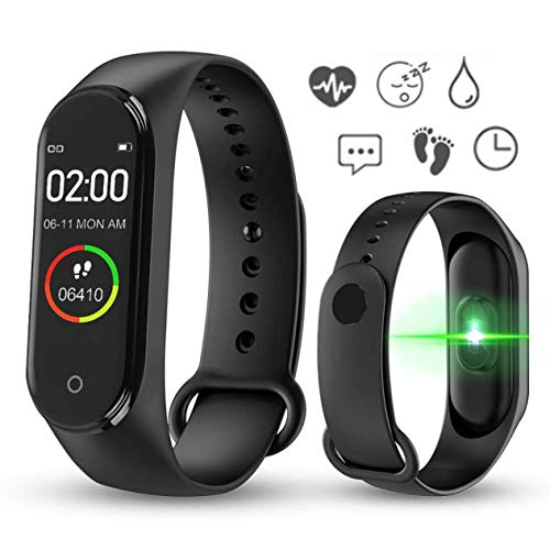 Fitlive Smart Bracelet & Activity Monitor - Pedometer, sleep cycle monitor, heart rate monitor, IP67 dust & waterproof, fitness tracker, long battery life compatible with IOS 8.5+ & Android 4.4+