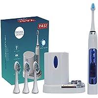 QUARK Cepillo de Dientes eléctrico Sonic Cepillo Dental Limpio LCD como un Dentista Recargable 4 Horas
