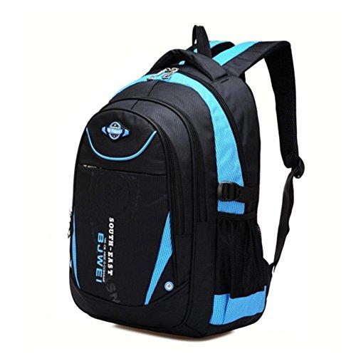 YAAGLE Kind Rucksack Schulranzen für 8-13 jährige Jungen und Mädchen Rucksackhandtasche Hellblau