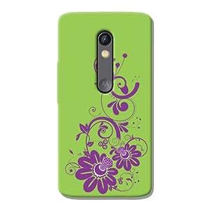 Kaira brand Designer Back Case Cover for Motorola Moto X Play (Swirlfloral)