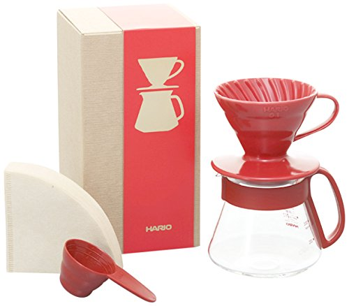 Hario V60 Color Coffee Dripper and Pot, Red