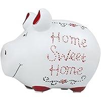 KCG Keramik Sparschwein HOME SWEET HOME ca. 12.5cm x 9cm