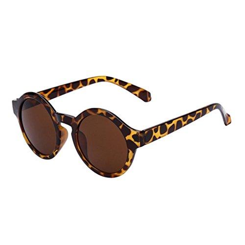 Frauen Runde Gläser, ZARU Unisex Mode Spiegel Sonnenbrille Streberbrille Überbrille für...