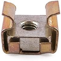 M3tuercas jaula de acero, zinc y amarillo, 0,7–1,6mm Panel, pack de 50