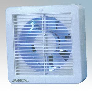 Manrose XF150AHP 150mm/6 240v Automatic/Humidistat/Pullcord Axial Wall/Ceiling Fan by Manrose