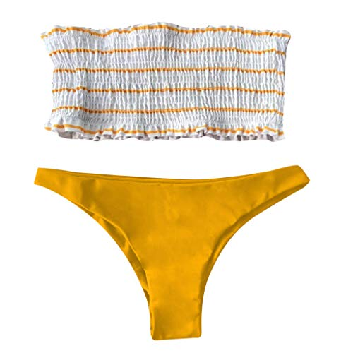 Brasilianische Unten Bademode (Bfmyxgs Sexy Beachwear für Frauen Damen drucken Bandage Bikini Set brasilianische Bademode Bademode Badeanzug Bodys Bikini Tankini Bademode Bade Badeanzug Monokini Sets Beachwear)