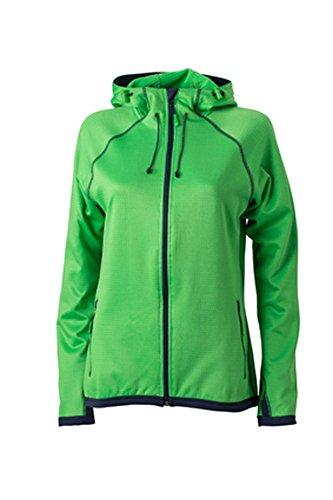 Ladies' Hooded Fleece Green/Navy