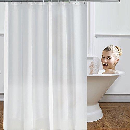 Mture Duschvorhang Anti-Schimmel Anti-Bakteriell, Waschbar, Shower Curtain Water-Repellent Fabric PEVA mit 12 Duschvorhangringen 180 x 200 cm