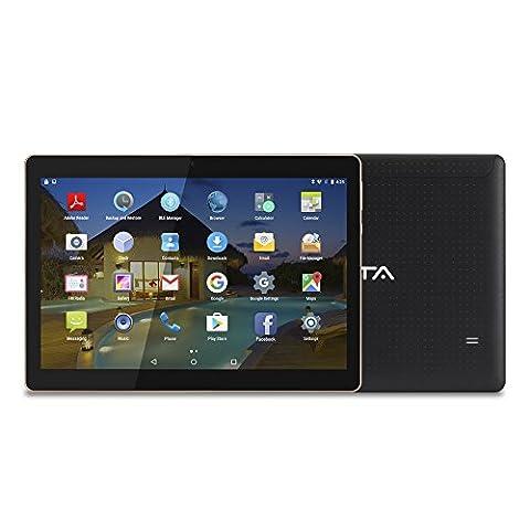 """BEISTA 10 pounce (10.1"""") Tablette Tactile- Noir ( Quad Core, 3G Double-SIM ,2 Go de RAM,disque dur 32 Go, Android 5.1,Wifi,OTG,GPS) …"""