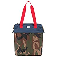 Herschel Supply Company Collins Travel Tote, 41-inch, Woodland Camo/ Navy/ Red