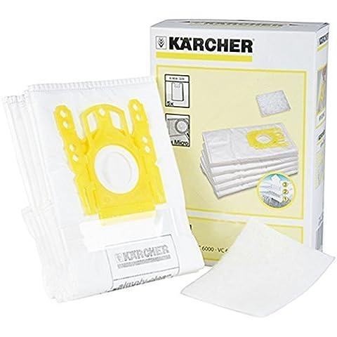 Karcher bolsas para aspiradora de forro polar (unidades 5 + para aspiradoras)