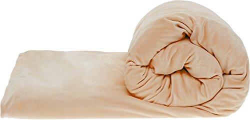 Mindful Design Acht Design Erwachsene beschwertem Decke mit Abnehmbarem Minky Bettbezug-Gravity Sensory Decke für Angst und Stress Relief, Schneller und Tiefer Schlaf 25 lbs Taupe - Schlaf Stress Relief