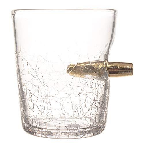 CKB Ltd Schnapsglas, 300 ml, mit Bullet Shot in The Glass Tasting Tumbler für Scotch Bourbon Whiskey Brandy