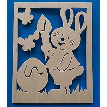 Fensterbild Ostern,Hase,Frühling
