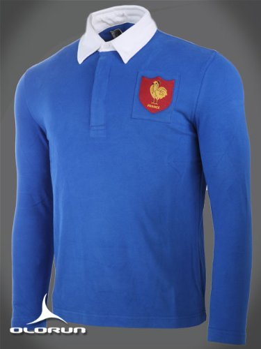 Klassische, Vintage-Stil, Französisches Rugby-Shirt Olurun Authentics 4XL 121.92 cm