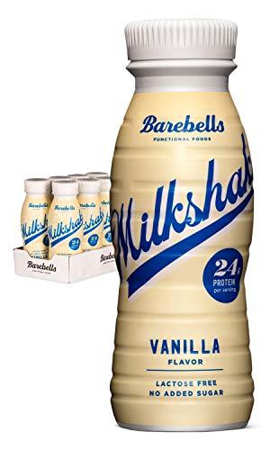 Barebells Protein Milkshake Vanille 8 x 330 ml | Mit hohem Proteingehalt | Ohne Zuckerzusatz |...