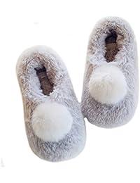 Fortuning s JDS Donne delle ragazze delle signore del velluto accogliente  finto della pelliccia del coniglio Casa b95a4950ede