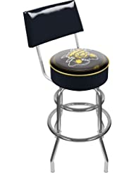 NCAA Wichita State University Padded Swivel Bar Stool with Back by Trademark Gameroom