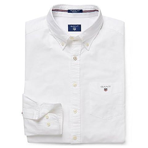 GANT chemise de loisirs pour homme coupe regular fit sHIRT tHE oXFORD lS bD taille s (gris 110/blanc))