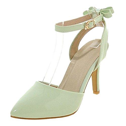 Coolcept Femmes Laniere Talons Sandales Bout Ferme green