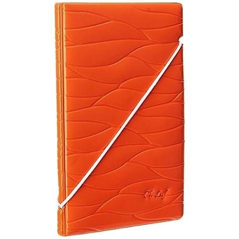 Woodmin Premium-Pass hülle, ID-Kartenhalter , Scheck Geldbörse für Reisen (Orange)