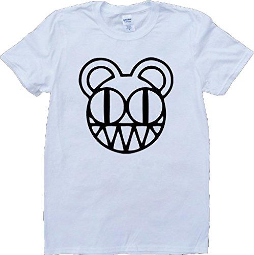 Radiohead Modifiziert Bär Logo Weiß Benutzerdefinierten Gemacht T-Shirt Weiß