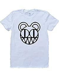 Brain Dump Tees Radiohead Modificado Oso Logo Blanco por Encargo T-Shirt