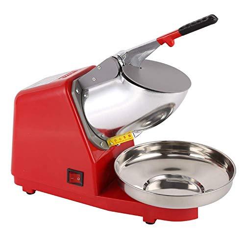 DGYAXIN Ice Crusher, Smoothies Ice Shaver Maschine Doppelklingen-Schnee-Kegel-Hersteller-Maschine Eiscrusher, für Heim Eiszerkleinerer Gewerbliche Küche Bar Milk Tea Shop,rot