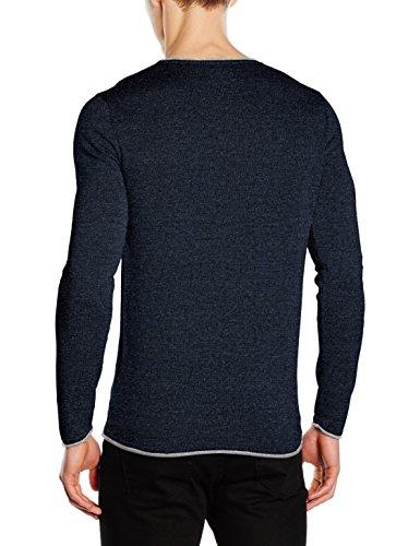 Selected Shnklop Crew Neck Noos, Pull Homme Bleu (Navy Blazer)
