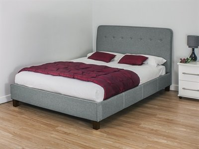 Snuggle Beds Luca Light Grey 5' King Size Fabric Beds