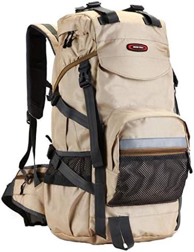 d131027a2f XYW-0006 Borsa da Viaggio per Alpinismo da da da Viaggio Borsa da Viaggio  in Tessuto Oxford da Uomo e da Donna Impermeabile Kaki - con parapioggia ...