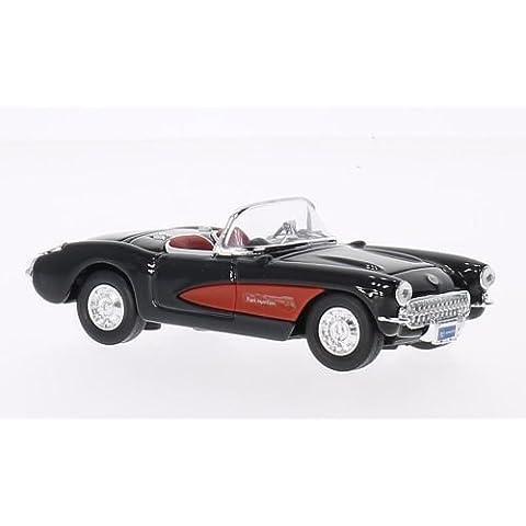 Chevrolet Corvette, negro/rojo, 1957, Modelo de Auto, modello completo, Lucky El Cast 1:43