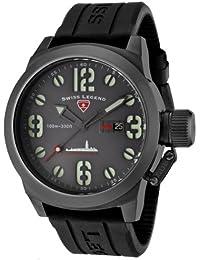 Swiss Legend sl-10543-gm-014 - Reloj analógico de cuarzo para hombre con correa de caucho, color negro