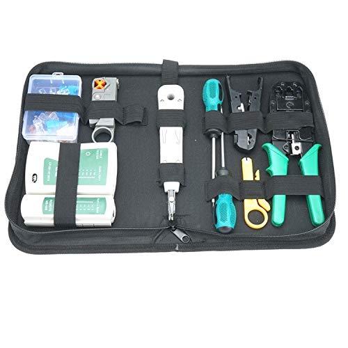 14 in 1 Netzwerk Reparaturwerkzeuge, Professionell Netzwerk Werkzeug Set Netzwerk-Tool-Kit, geeignet für DIY, Haushalt oder Fabrik