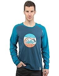 Chillaz Hombre LS Krabi Retro manga larga, primavera/verano, hombre, color azul oscuro, tamaño extra-large