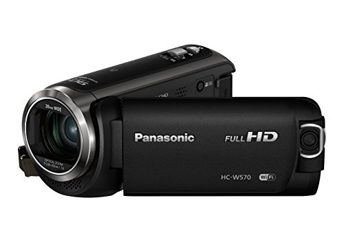 Panasonic HC-W570EG-K Videocamera HD, Twin Camera Wireless, Funzione Level Shot, Wi-Fi, NFC, Nero