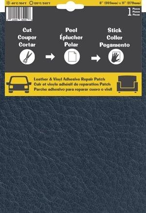 Pelle Patch Pièce adhésive de réparation de Cuir et Vinyle (Bleu Foncé)