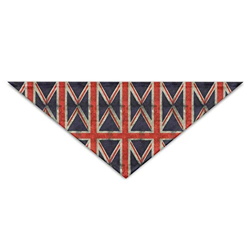 Wfispiy Grunge British Combo Flag Pet Scarf Dog Cat Bandana Collars Triangle Neckerchief (Patriot Boy Kostüm)
