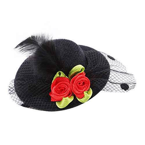 YSINFOD Halloween Top Hut Haarnadel Elegante Hochzeit Bankett -