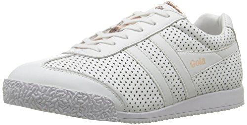 Gola Harrier Glimmer Lth White/Rose Gold, Sneaker Donna Bianco (White/rose Gold Wy)