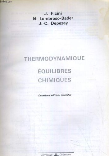 Thermodynamique, equilibres chimiques