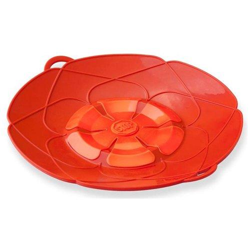 flower-design-spill-stopper-pot-pan-lid-2-colours-red-green-cookware-safeguard-red