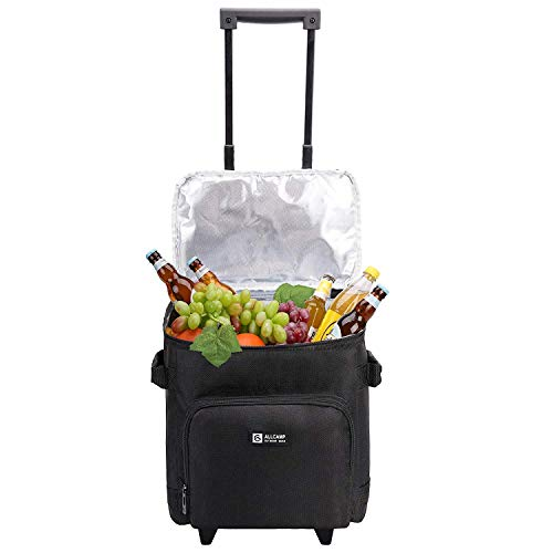 ALLCAMP Wein-Transportkoffer & Reisekoffer für jeden Anlass mit herausnehmbarem Liner & Wheels für 6 Weinflaschen -
