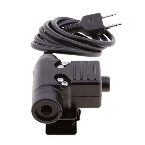 MagiDeal Walkie talkie Headset Kabel Adapter & PTT aus kunststoff Für Midland Ptt-adapter